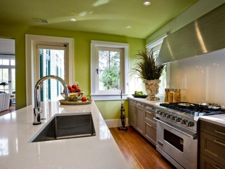 Hoe te beslissen in welke kleur je de keuken moet schilderen