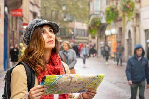 Een vrouw op reis