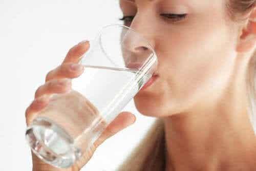 Water bij een dieet voor een slechte adem