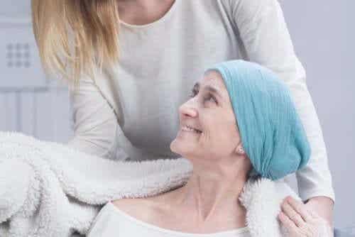 Vrouw ondergaat chemo