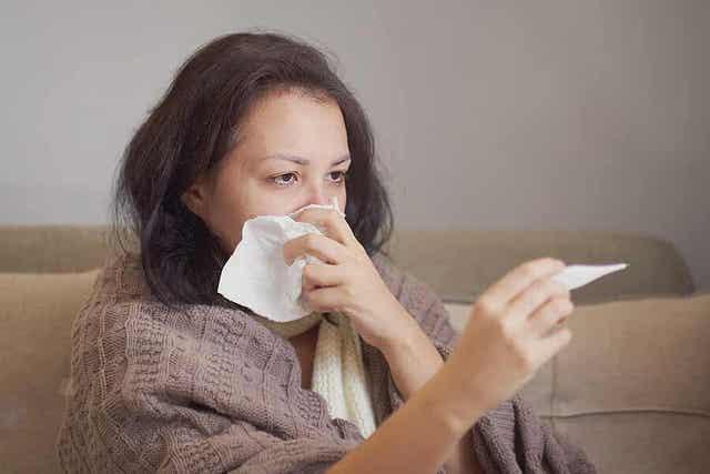 Vrouw met koorts