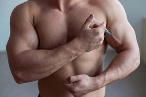 Een bolle buik bij bodybuilders door een overdaad aan steroïden